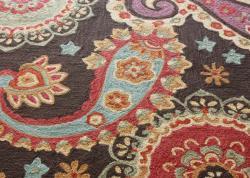 nuLOOM Handmade Paisley Brown Rug (5' x 8')