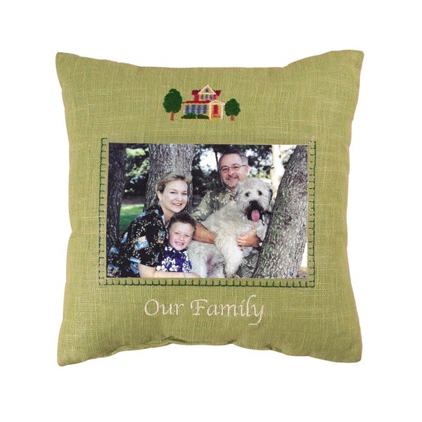 'Our Family' Picture Pillow (10''x 10'')