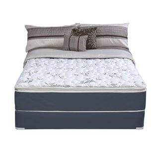 Wolf Sleep Accents Illusion Plush Pillowtop Twin-size Mattress and Foundation Set
