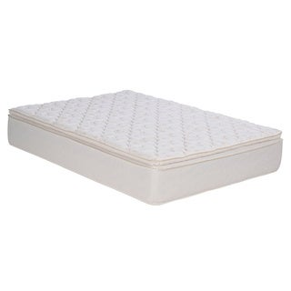 Sleep Accents Illusion Plush Pillowtop Twin-size Mattress / Foundation Set