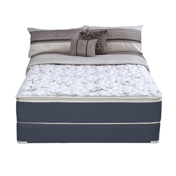 Wolf Sleep Accents Illusion Plush Pillowtop Queen-size Mattress and Foundation Set