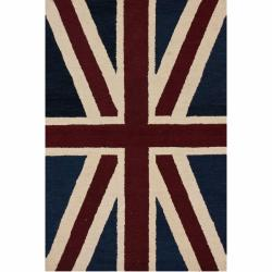 nuLOOM Handmade United Kingdom Flag Wool Rug (5' x 7'6)