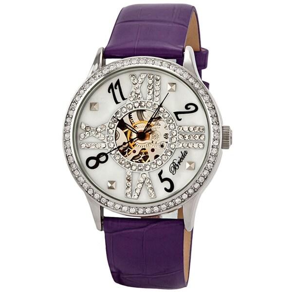 Breda Women's 'Audrey' Rhinestone Hand-winding Watch