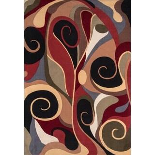 Graffiti Multi Wool Area Rug (7'9 x 9'9)