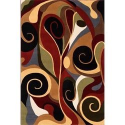 Graffiti Multi Wool Area Rug (2'2 x 3')