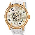Breda Women's 'Audrey' Mechanical Hand-winding White Steel Watch