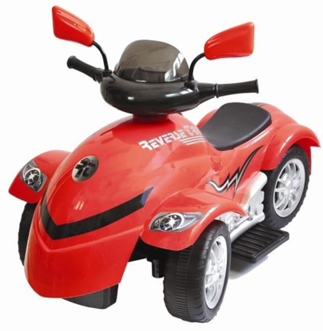 New Star Cyclone Red Four-direction Six-volt Reverse-trike Ride-on