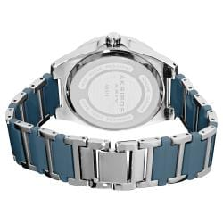 Akribos XXIV Women's Quartz Crystal Ceramic Stainless Steel Bracelet Watch