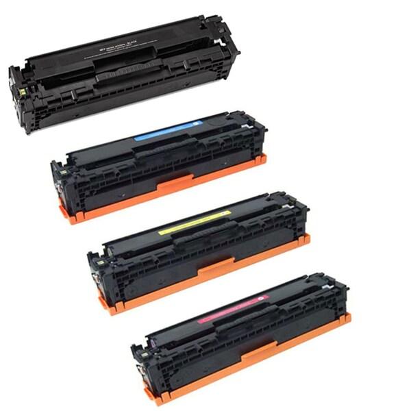 HP CE410A CE411A CE412A CE413A Compatible Black Toner Cartridges (Pack of 4)