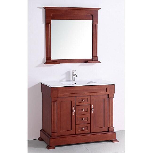 Ceramic Top 40-inch Single Sink Bathroom Vanity