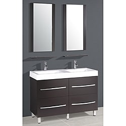 Resin Top 48 Inch Double Sink Bathroom Vanity 14283177 Shop