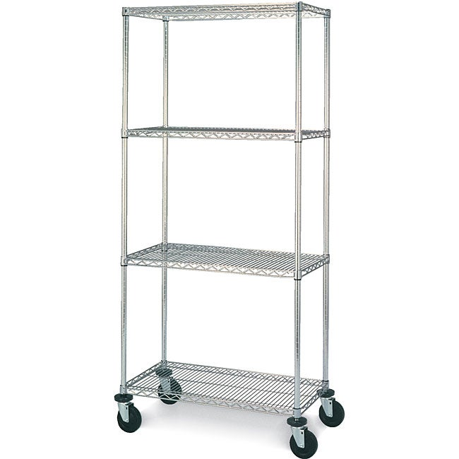 Olympic 4-shelf Mobile Shelving Unit