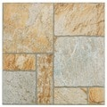 SomerTile 13.5x13.5-inch Eventide Gold Porcelain Floor and Wall Tiles (Set of 11)