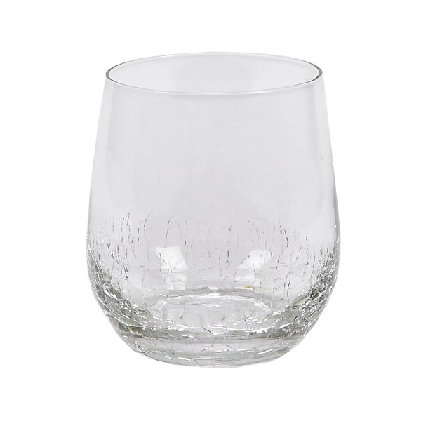 IMPULSE! Crackle Rocks Clear Tumblers (Set of 6)