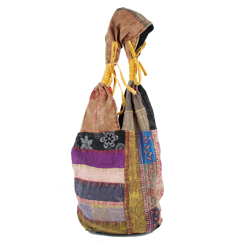 Multicolored Patchwork Handbag (Nepal)