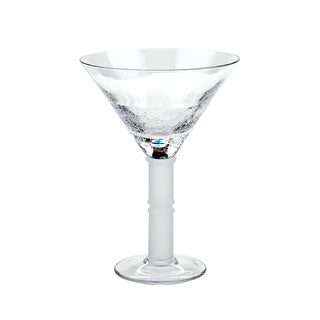 IMPULSE! Crackle Clear Martini Glasses (Set of 6)