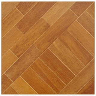 SomerTile Techwood Ash Porcelain Floor and Wall Tiles (Case of 11)