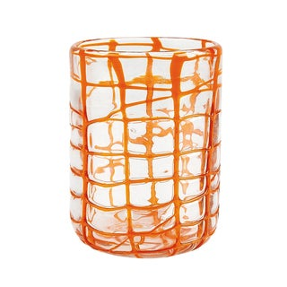Impulse Abstract Rocks Orange Tumbler Set (Pack of 6)