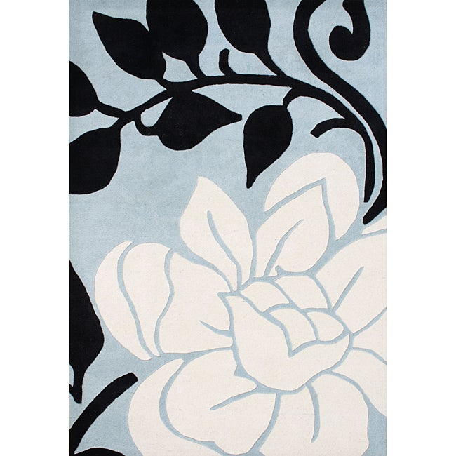 Handmade Sabrina Cloud Cream Wool Rug (5' x 8')
