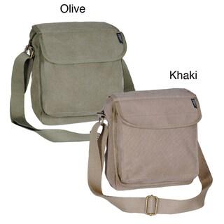 Everest 11-inch Canvas Messenger Bag with Adjustable Shoulder Strap