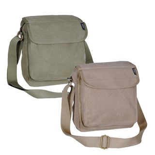 Everest 11-inch Canvas Messenger Bag with Adjustable Shoulder Strap