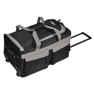 Everest 22-inch Black/Grey Carro On Rolling Upright Duffel Bag