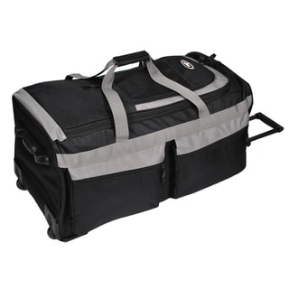 Everest 29-inch Black/Grey Rolling Upright Duffel Bag