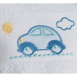Lucia Minelli Kid's Embroidered Little Car 4-piece Turkish Towel Set