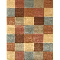 Handmade Sabrina Multi Wool Rug (5' x 8')