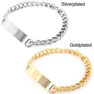 West Coast Jewelry Goldtone/ Silvertone Men's Small ID Bracelet