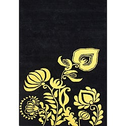Handmade Sabrina Sunset Gold Wool Rug (5' x 8')
