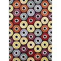 Handmade Circles Coca Brown Wool Rug (8' x 10')