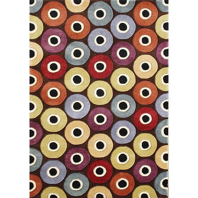Alliyah Handmade Coca Brown New Zealand Blend Wool Area Rug (5' x 8')