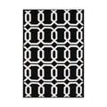 Alliyah Rugs Handmade Tufted Black/ White Geometric Pattern New Zealand Blend Wool Rug (8' x 10')