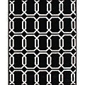 Hand-Tufted Geometric 'Floridly' Black Wool Rug (5' x 8')