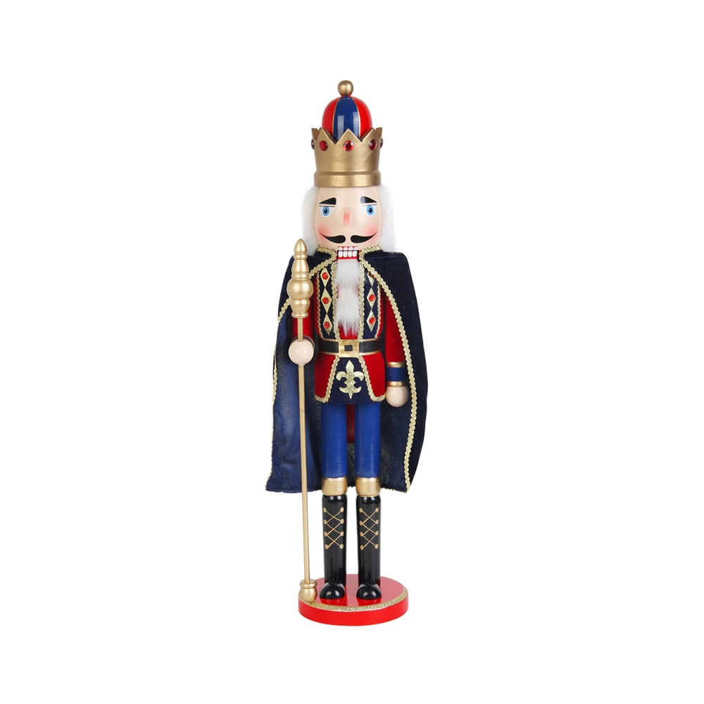 Christmas 24-inch Nutcracker King with Cape