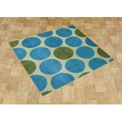 Handmade Light Aspen Green New Zealand Wool Rug (6' Square)