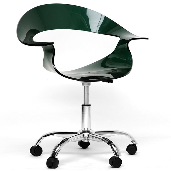 Elia Dark Acrylic Modern Swivel Chair
