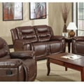 Samson Faux Leather Brown Dual Reclining Loveseat