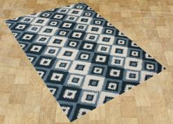 Alliyah Handmade IKAT Handmade Orion Blue New Zealand Blend Wool Rug (8' x 10')