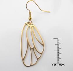 Adrienne Audrey Jewelry 14K Gold Butterfly Wing Earrings