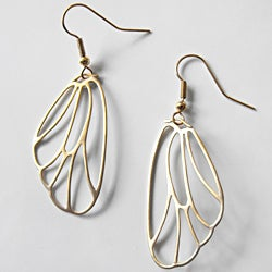 Adrienne Audrey Jewelry 14K Gold Butterfly Wing Earrings
