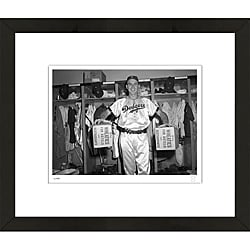 RetroGraphics Gil Hodges Framed Sports Photo