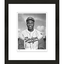 RetroGraphics Jackie Robinson Framed Sports Photo