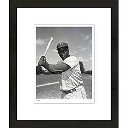 RetroGraphics Jackie Robinson Officially-Licensed Framed Sports Photo