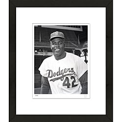 RetroGraphics Jackie Robinson Hand-Numbered Framed Sports Photo