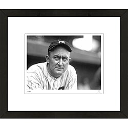 RetroGraphics Officially Licensed Ty Cobb Framed Sports Photo
