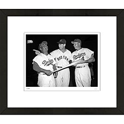 RetroGraphics Williams, Campanella, Snider Framed Sports Photo