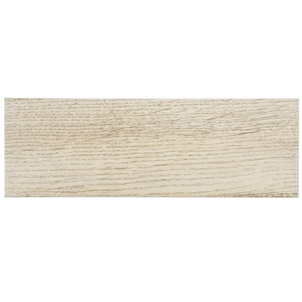 SomerTile Wood Look Sava Crema Porcelain Floor and Wall Tile 6x18-in (Case of 16)