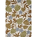 Alliyah Beige Leaf Handmade New Zealand Wool Rug (5'x8')